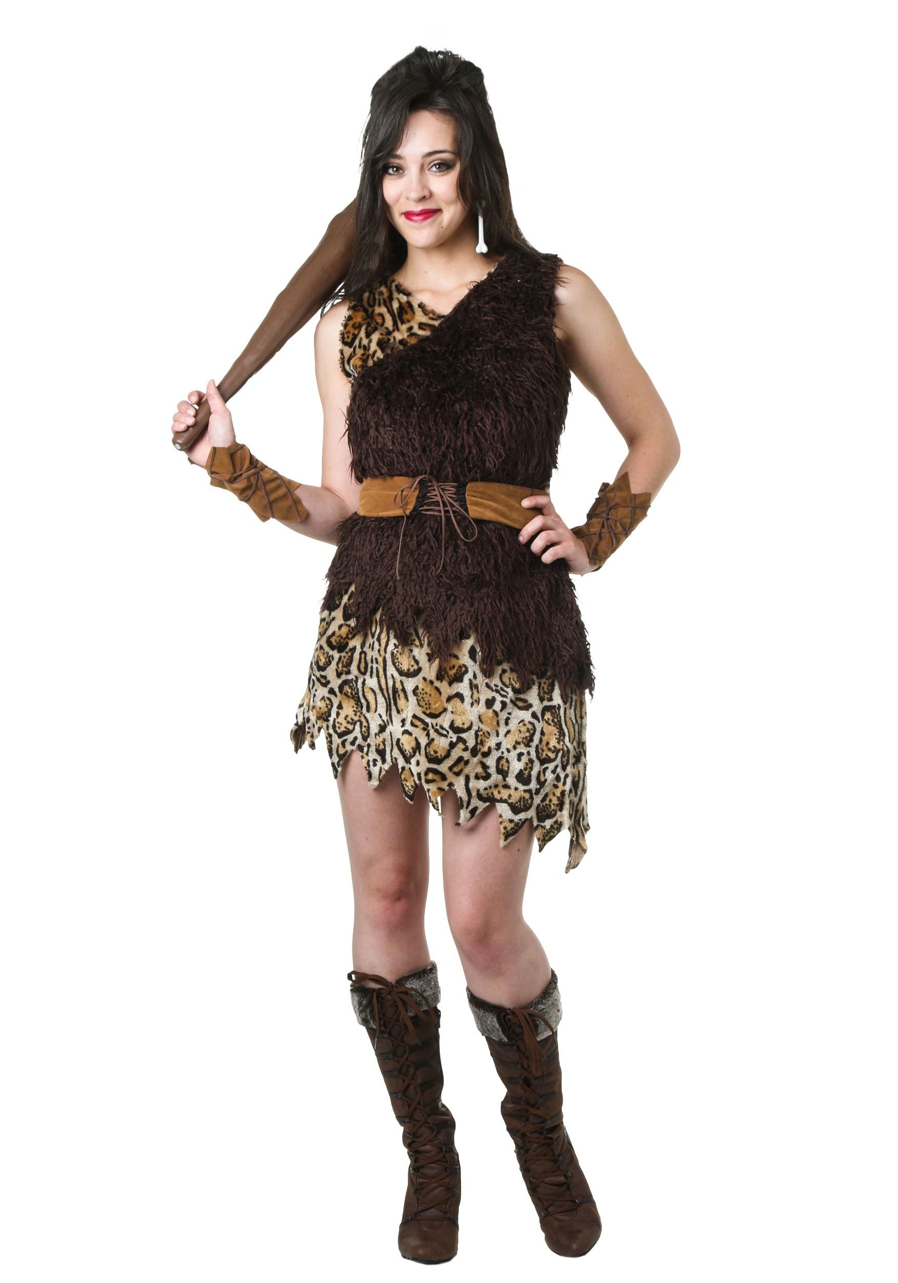 Cavewoman brown adult costume