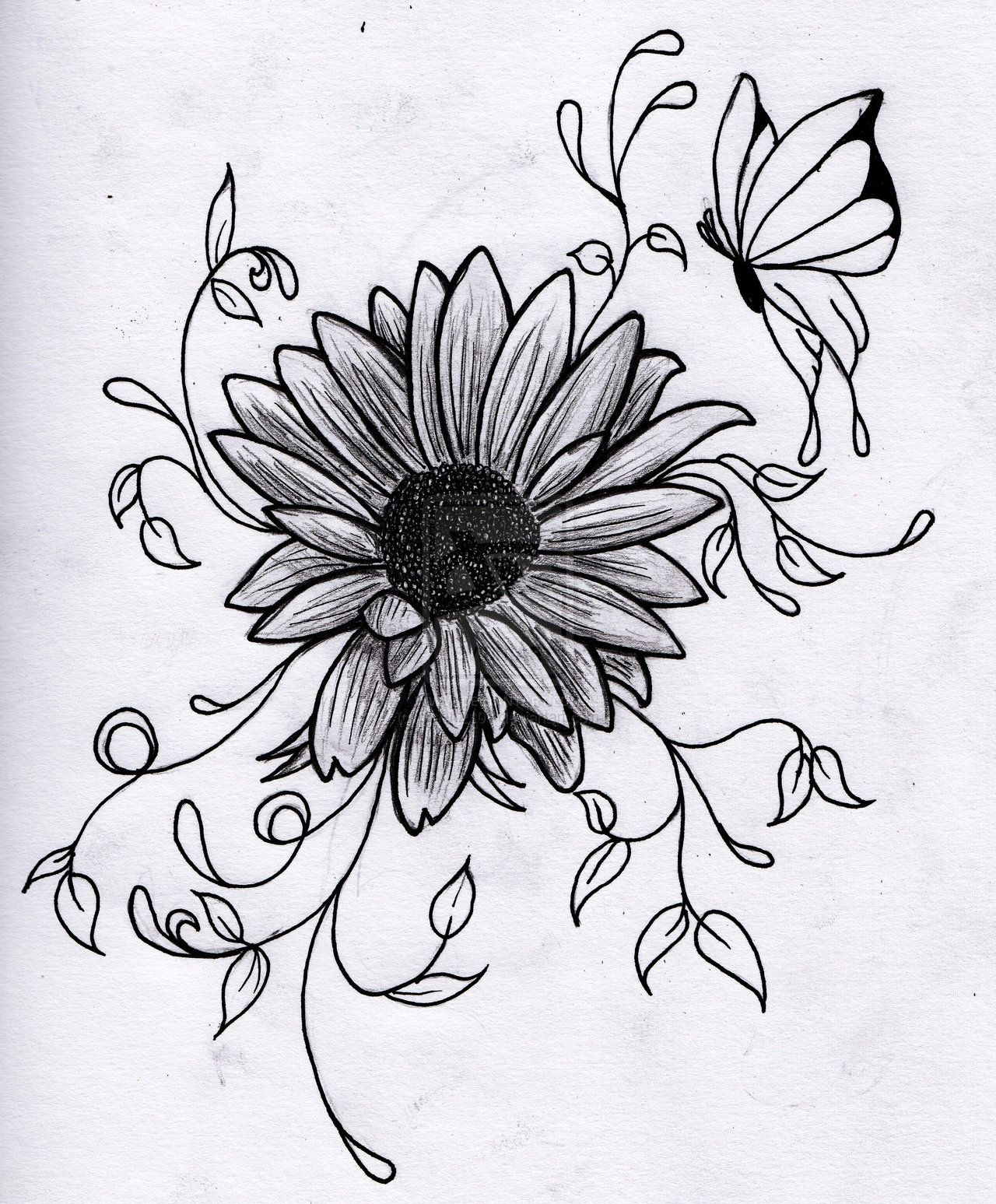 flower drawings - Google Search | Tattoo ideas | Pinterest ...