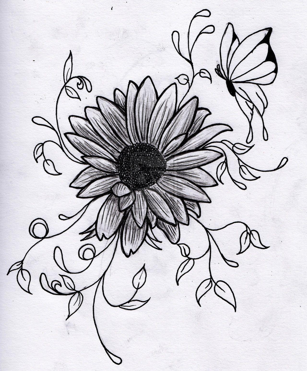flower drawings - Google Search | Tattoo ideas | Pinterest ...