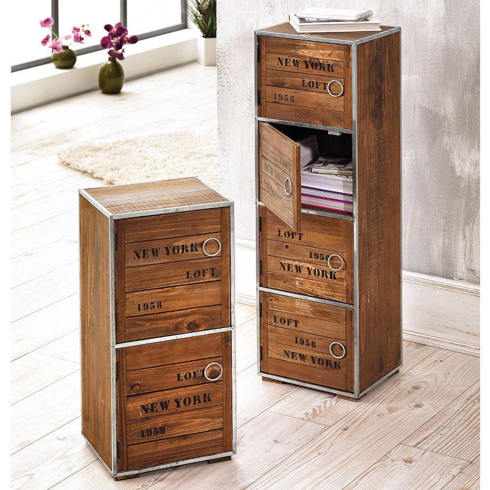 Details zu Schrank New York Holzschrank Kommode Schubladenschrank ...