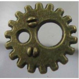 Breloque Métal - Mini Rouage Bronze 11mm