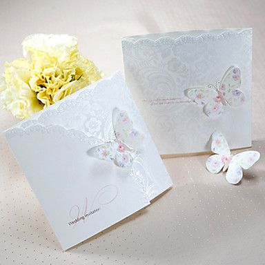 62 49 Tri Fold Wedding Invitations Invitation Cards Vintage Style Classic Style Modern Style Pearl Paper 5 1 3 5 1 3 13 2 13 2cm Butterfly Wedding Invitations Cheap Wedding Invitations Wedding Invitation Kits