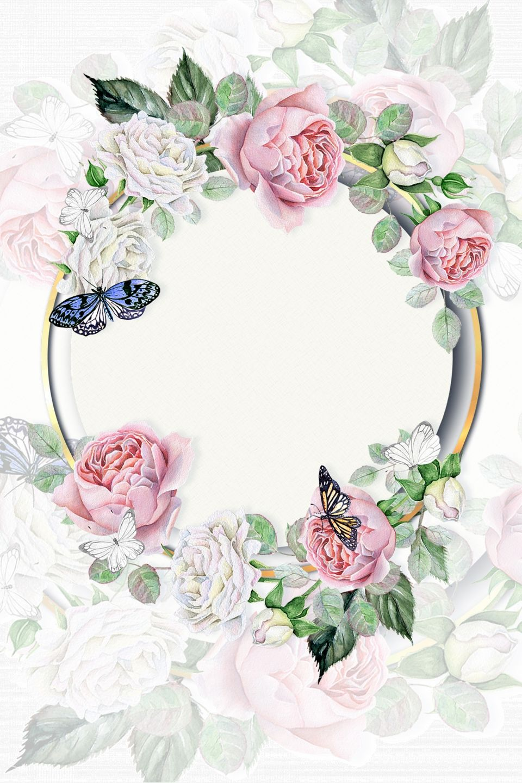 Latar Belakang Poster Perkahwinan Perkahwinan Bunga Eropah Yang Segar Dan Cantik Vintage Flower Backgrounds Floral Border Design Flower Background Wallpaper
