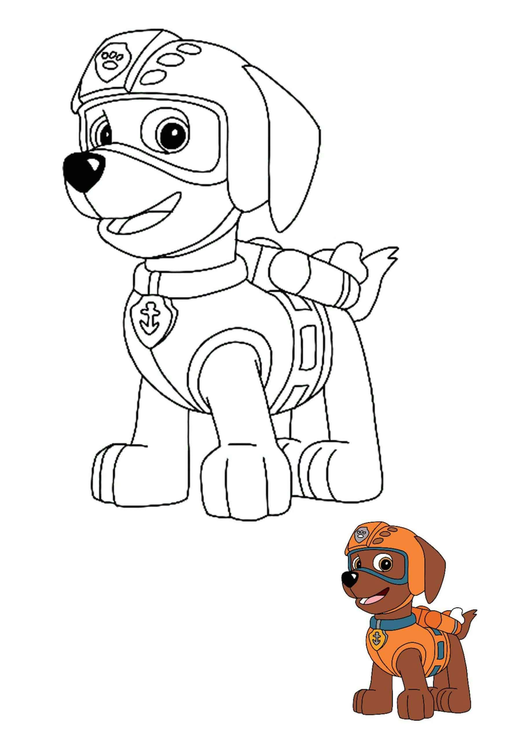 Paw Patrol Zuma Coloring Pages Paw Patrol Coloring Zuma Paw Patrol Paw Patrol Printables