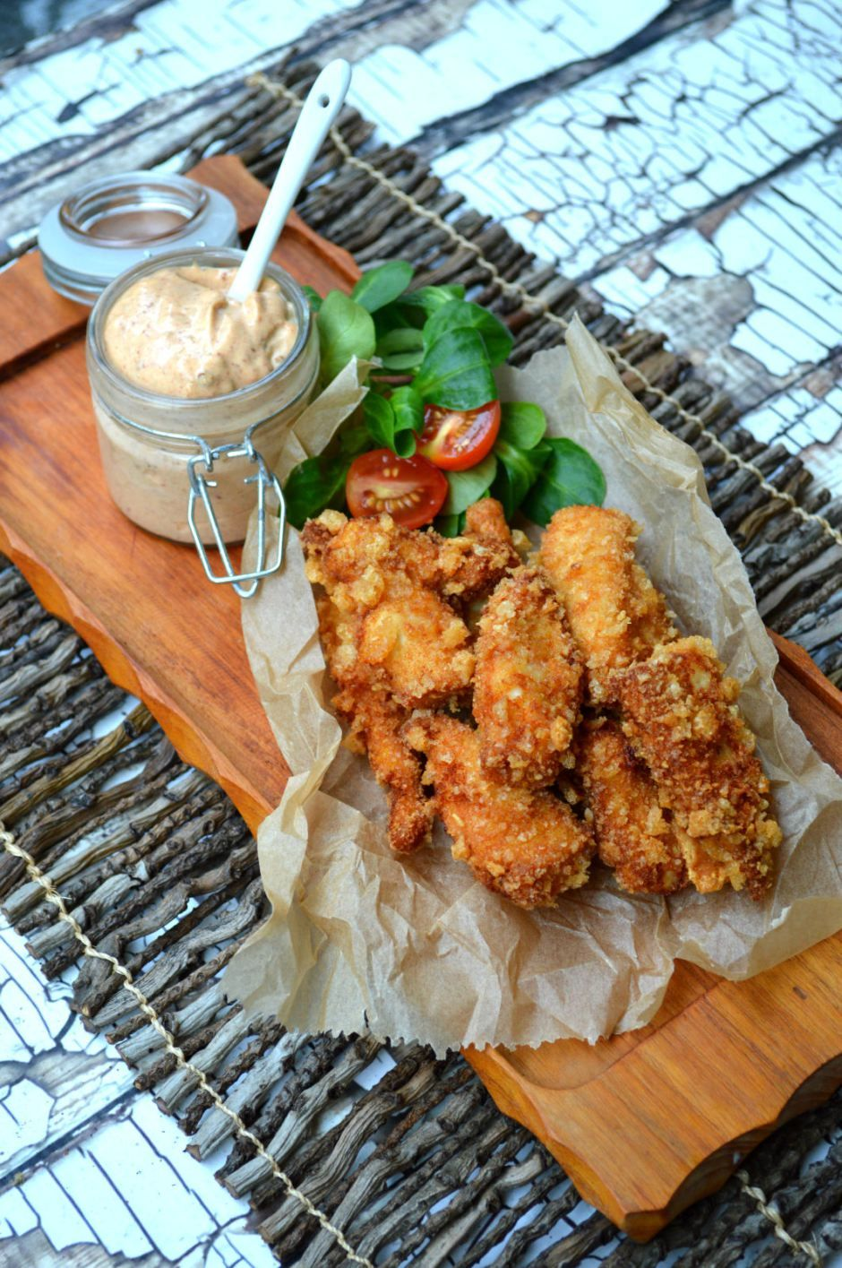 Low carb paleo friendly fried chicken brined in pickle