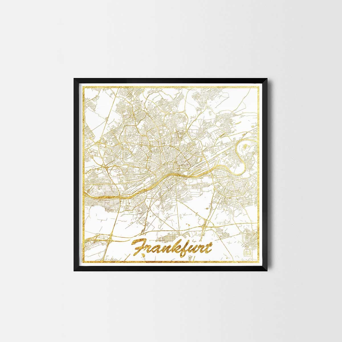 Frankfurt map posters - City Art Posters and Prints | Pinterest ...