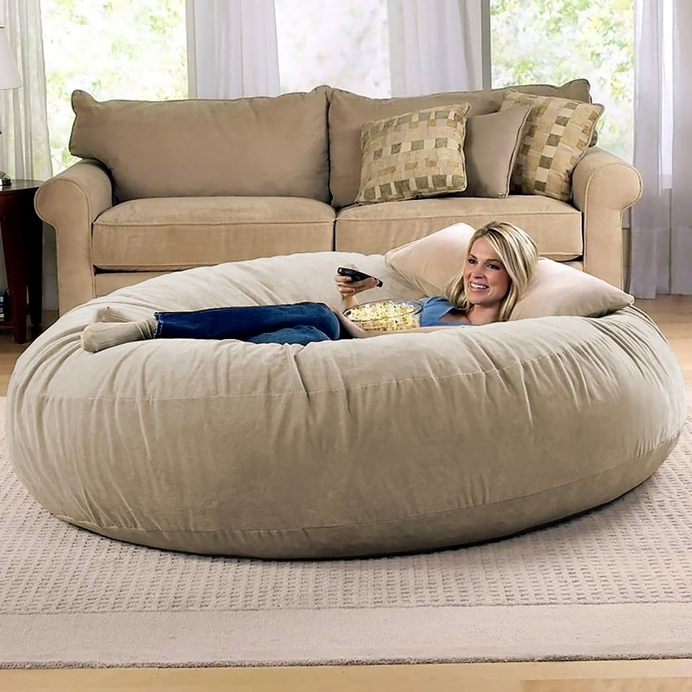 "Amazon Sells a 6Foot ""Cocoon"" Bean Bag Chair, and It's"