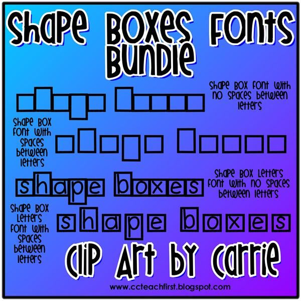 Between Letters In Word Shape Box Letters Font Shape Box Letters