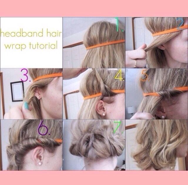 Heatless Curls Using A Headband Heatless Curls Headband Curls Short Hair Styles