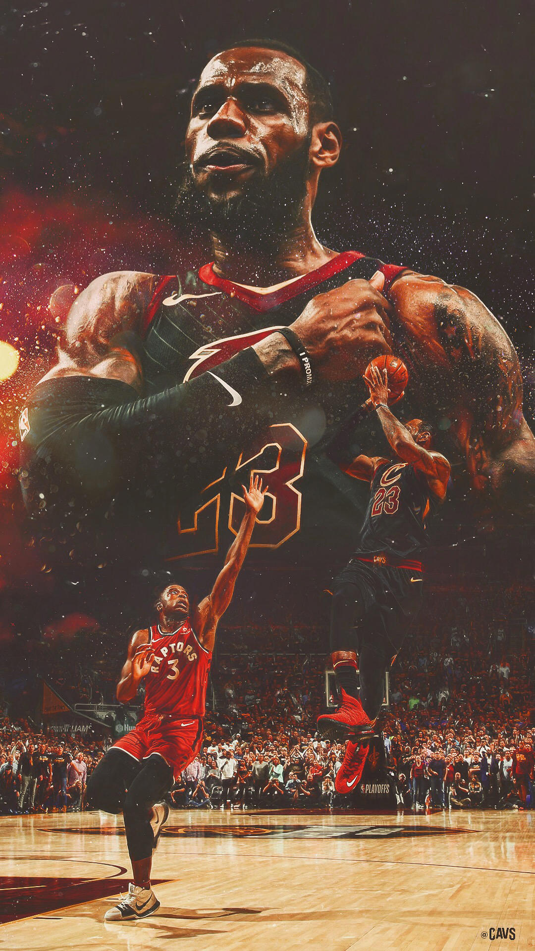 uk availability 0af3e b0021 2018 Cleveland Cavaliers Playoff Graphics on Behance
