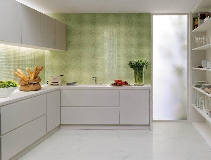 Piastrelle verdi per cucina cerca con google kitchen - Piastrelle per cucina bianca ...