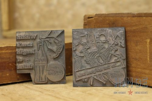2 Antique Vintage Copper Coca Cola Printing Plates Item395 & 2 Antique Vintage Copper Coca Cola Printing Plates Item395 ...