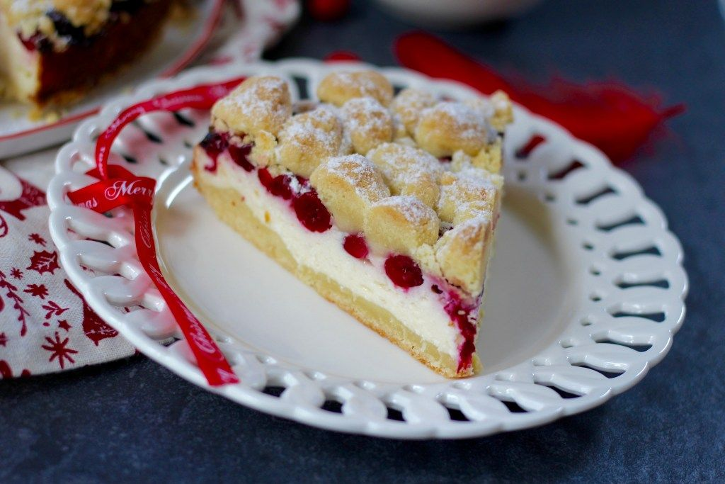 Polnischer Kasekuchen Mit Cranberries Und Streusel Kuchen Und Torten Polnische Rezepte Kuchen Und Kuchen
