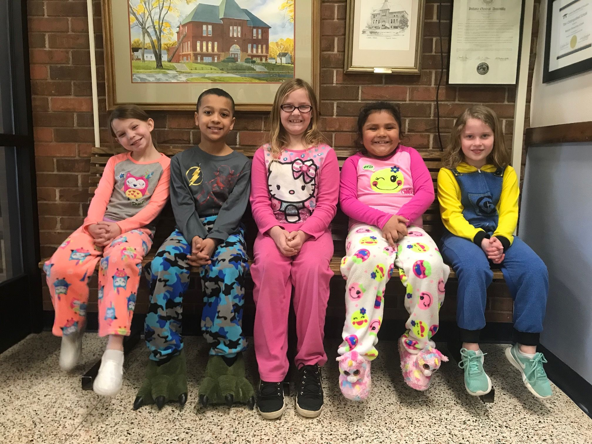 Webster Elementary School Held A Special Pajama And