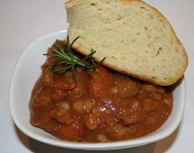 Rosemary, Lamb & White Bean Stew. Here's a hearty, healthy stew that derives some richness from a relatively small amount of meat while showcasing a much larger array of vegetables, legumes and of course, the healthiest fat on Earth, Extra Virgin Olive Oil.