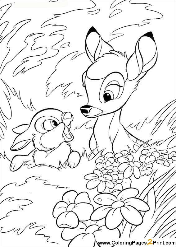 Bambi Coloring Pages | Easter coloring pages | Pinterest | Colores ...