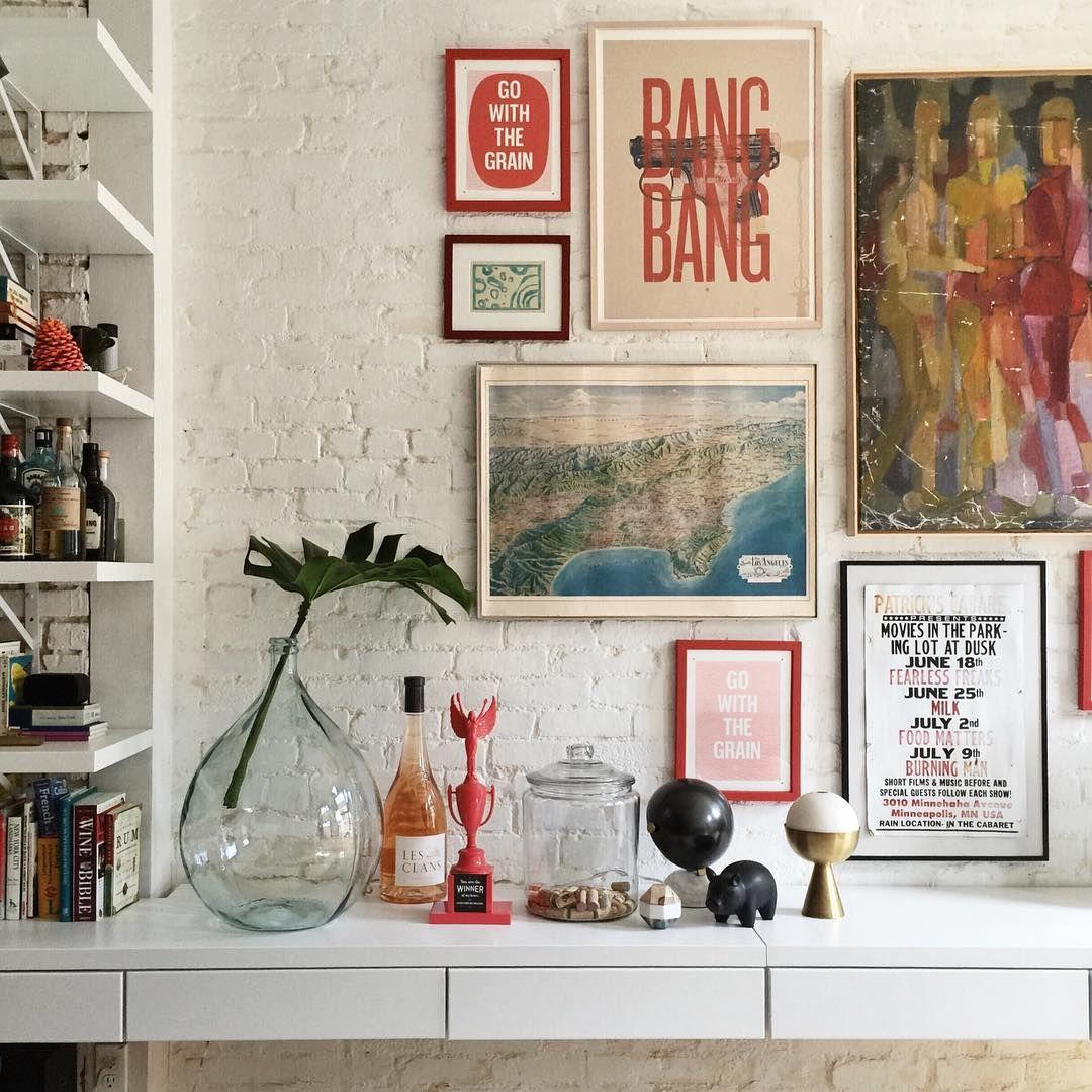 Love this apartment vignette via patrick janelle aguynamedpatrick