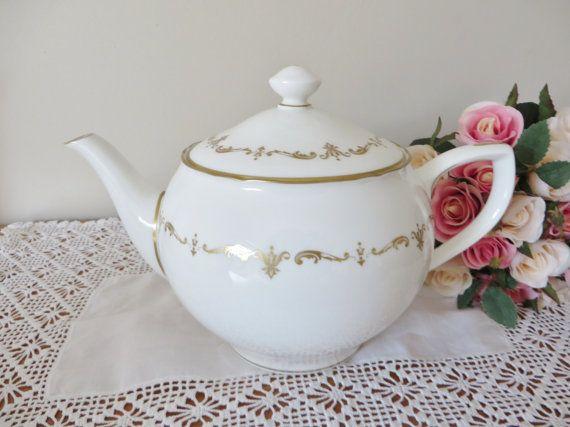 Royal Worcester vintage 1980's teapot by MaddyVintageHostess
