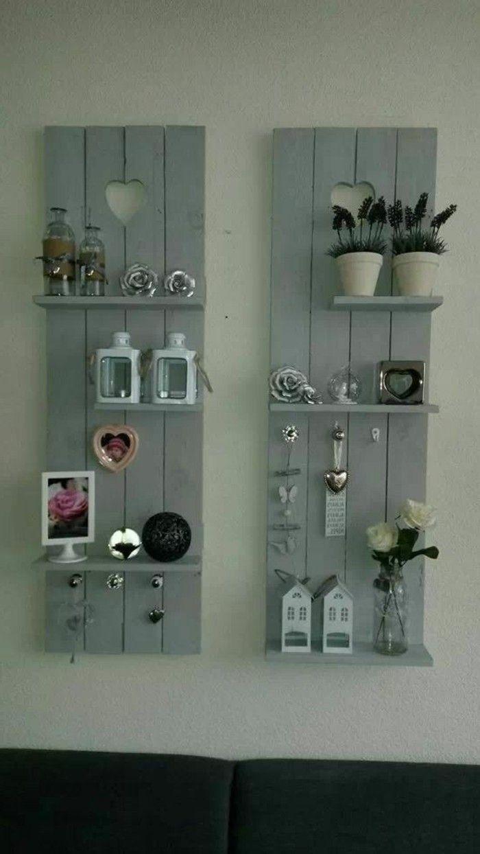 1001 ideas para hacer muebles con palets f ciles casa - Decorar paredes con palets ...