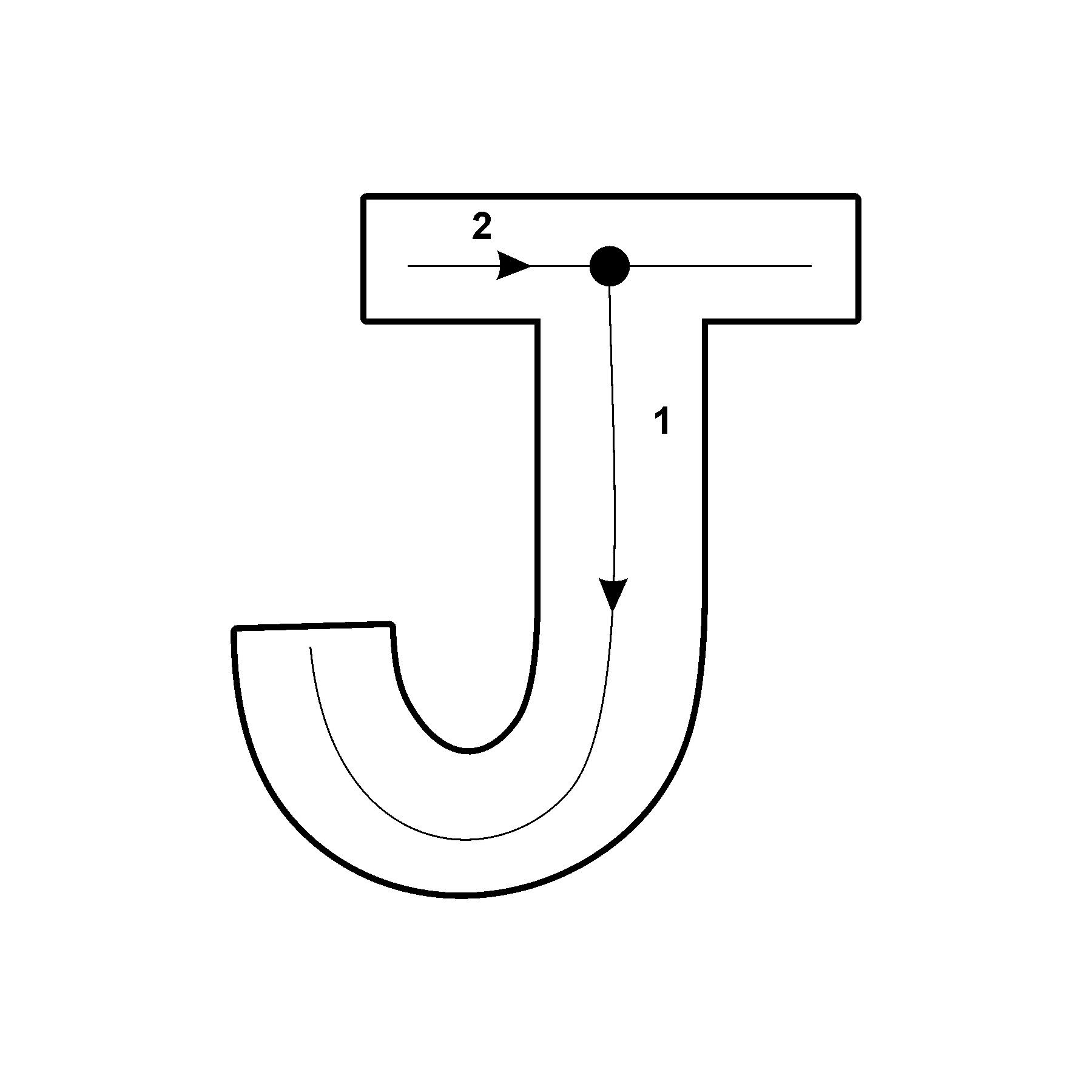 Capital Letter J With Arrow