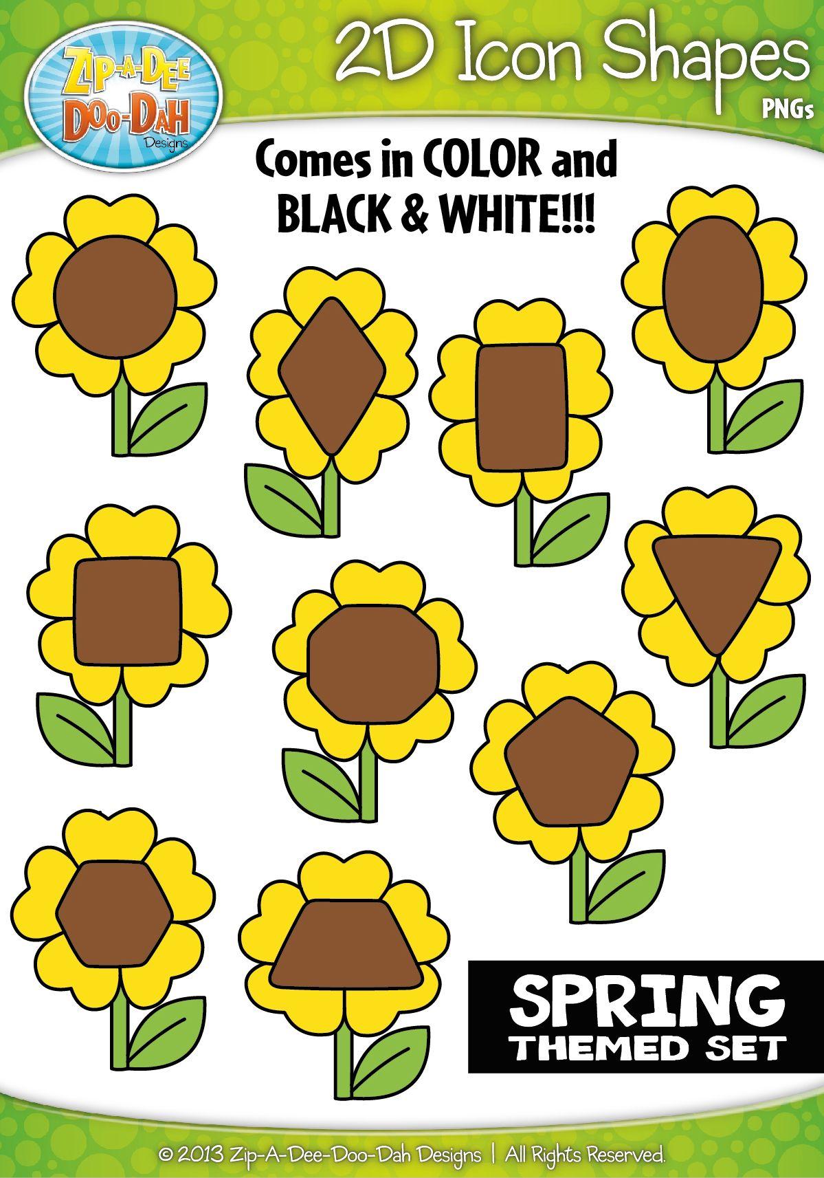 Spring 2d Icon Shapes Clipart Zip A Dee Doo Dah Designs