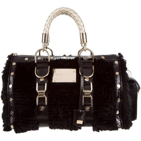 5c90d6b1c3 Pre-owned Gianni Versace Fur Madonna Bag (€450) ❤ liked on Polyvore ...