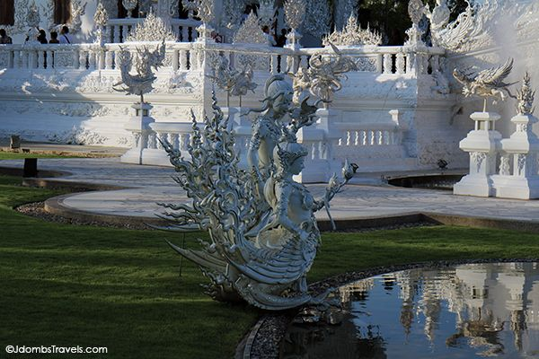 Fantastical statues at The White Temple #Thailand