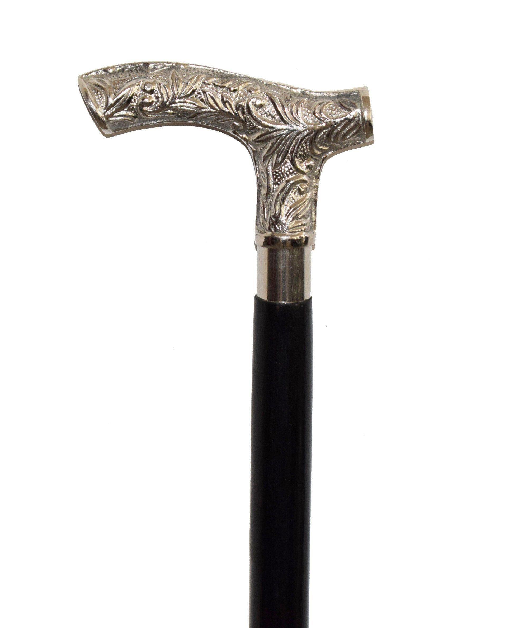 Vintage Silver Brass Plain Derby Head handle for Wooden stick walking cane Gift