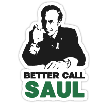 Better Call Saul Sticker By Miki1510 Breaking Bad Breaking Bad Spin Drama