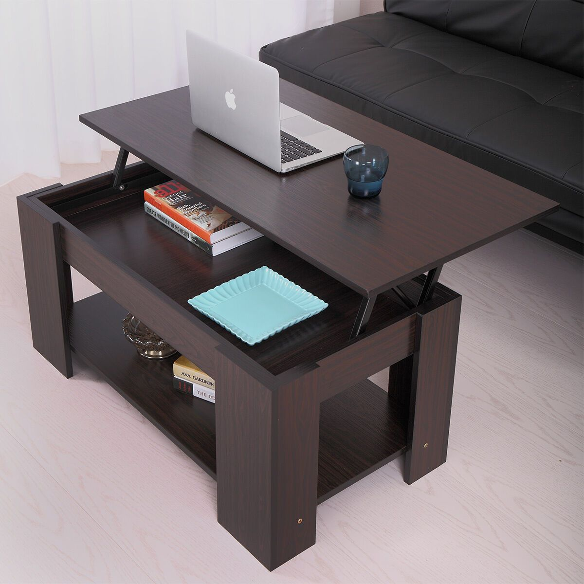 coffee table with lift top with storage living room modern