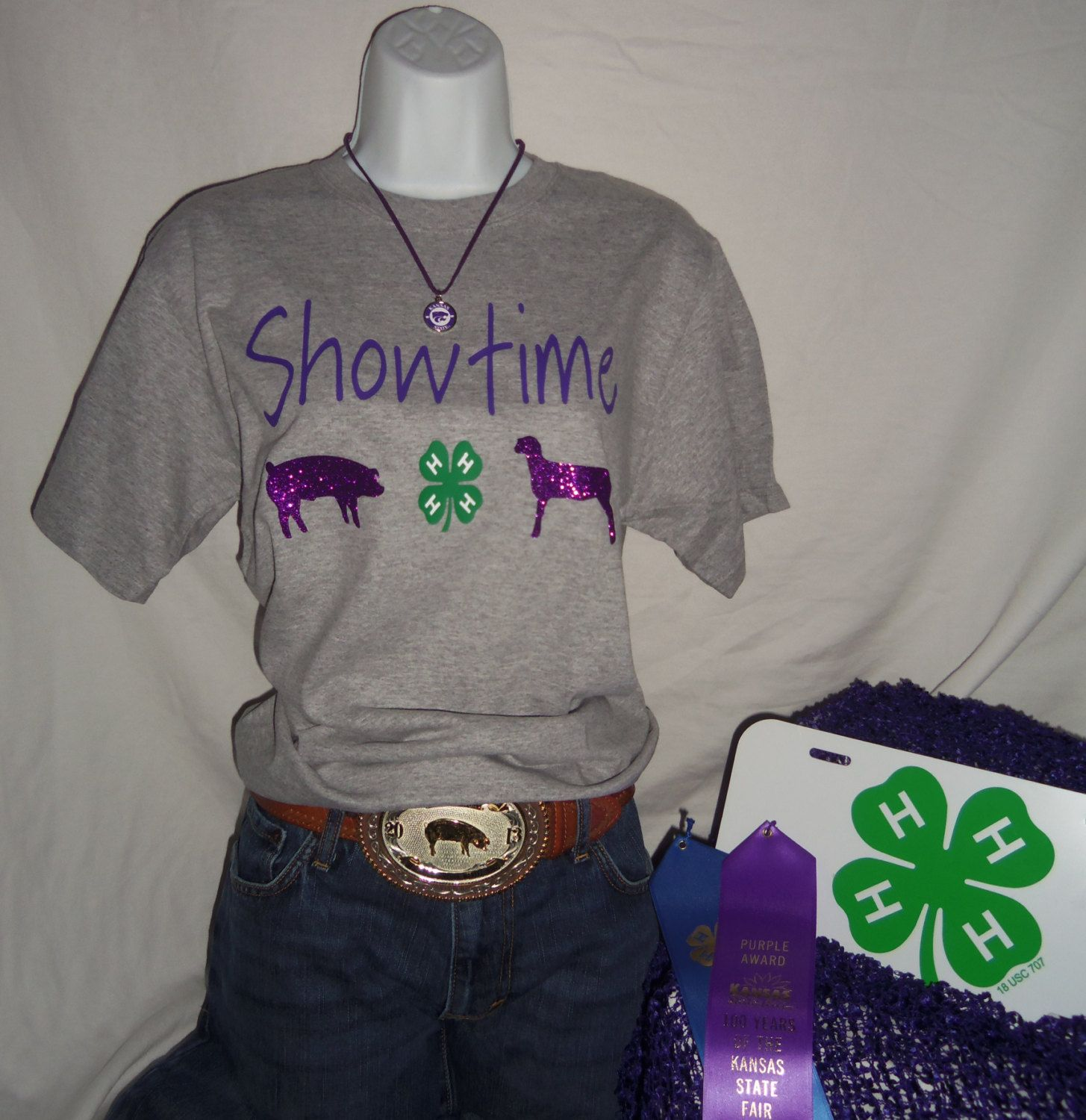 YOUTH Live ~ Love ~ Show Hoodie with Black Glitter - Goat, Pig, Lamb, Steer, Chicken, Rabbit and more!