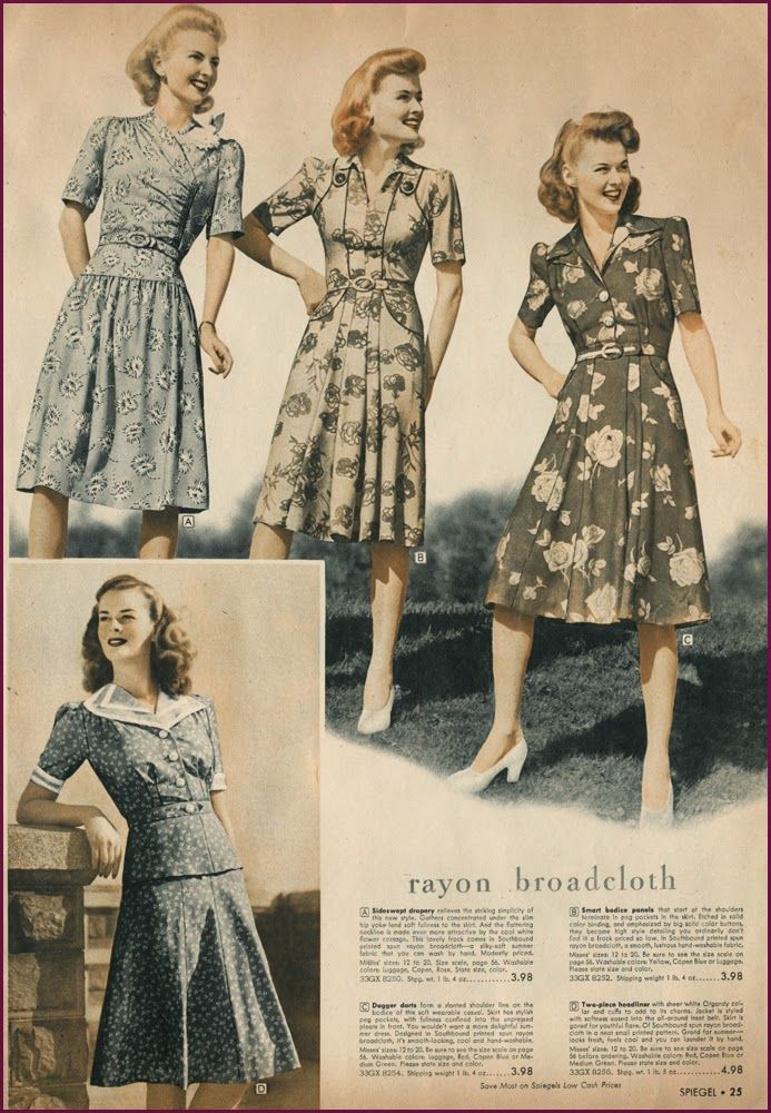 1940s rayon broadcloth dresses love this wish this style would come ...