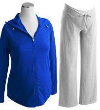 fe49418adda Danskin Now Maternity Long-Sleeve Zip Hoodie and Danskin Now Maternity Knit  Pants from Walmart.
