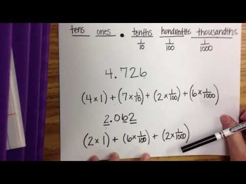 Expanded Form With Multiplication Of Decimals Youtube Teacher