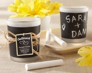 Chalkboard Tealight Candles