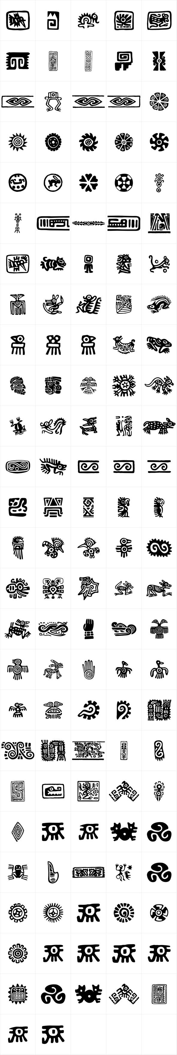 P22 Mexican Relics Symbol Icon Fonts Pinterest Mexicans