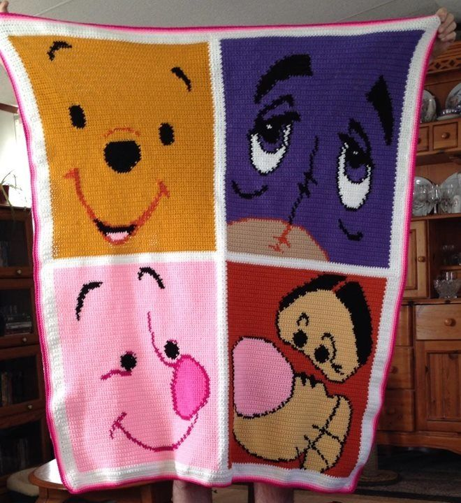 Pooh & Friends graphghan (pic only) Crochet: Graphghans ...