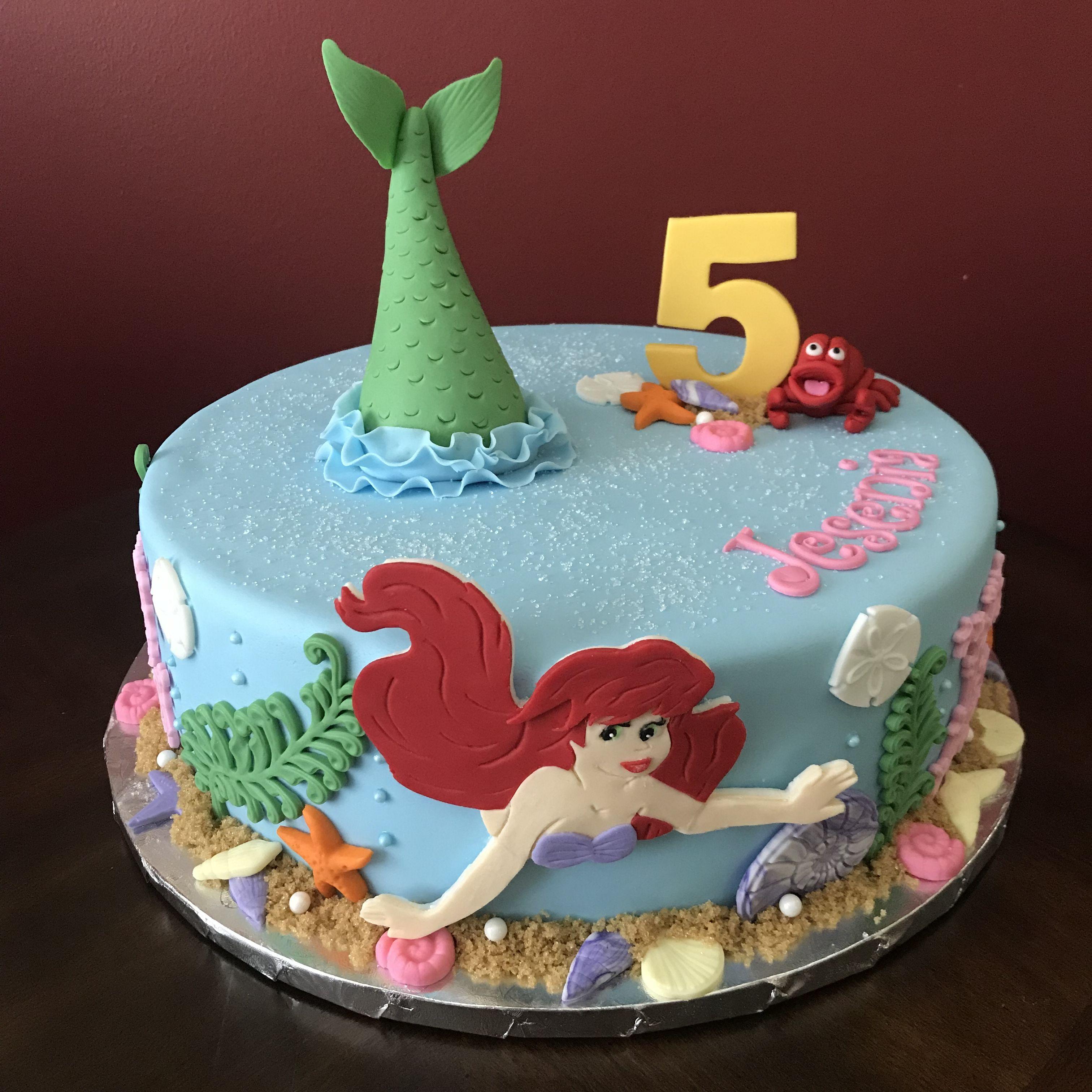Ariel the little mermaid birthday cake mermaid birthday