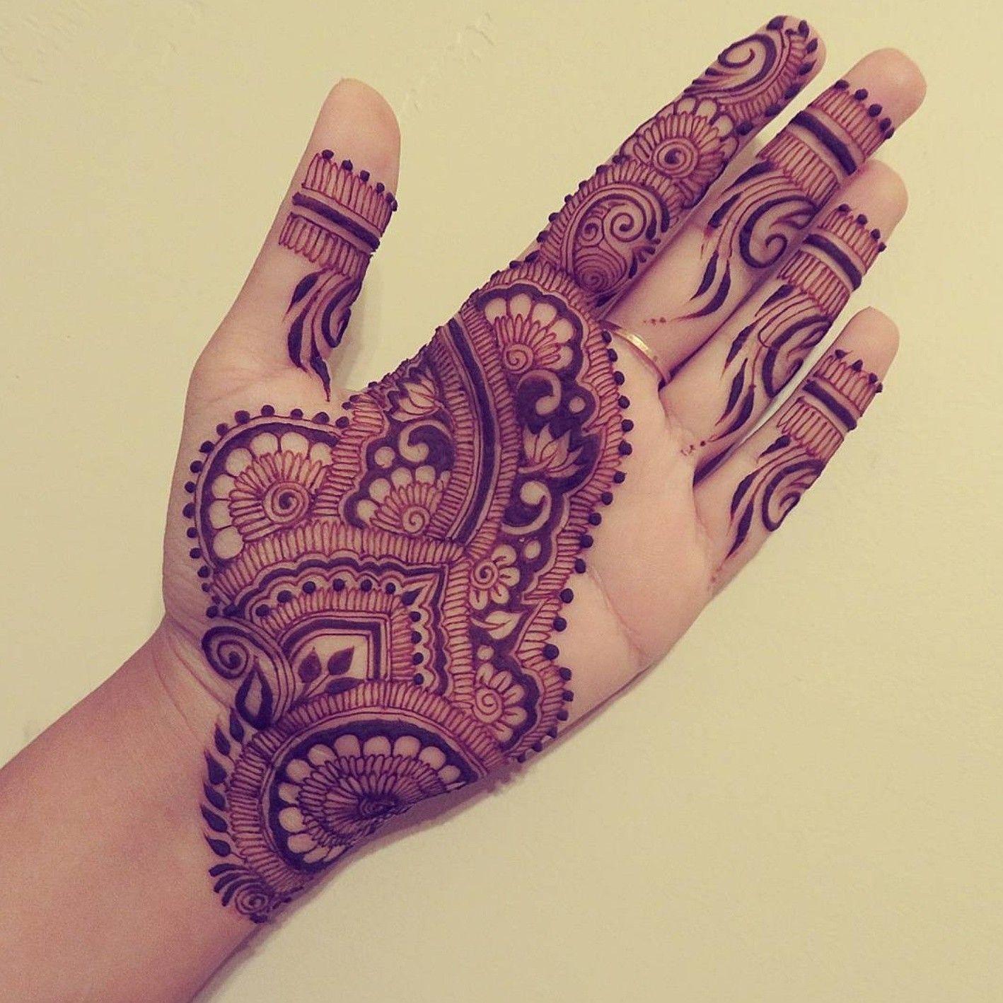 Henna Hands, Palms & Feet |Simple Henna Palm Designs