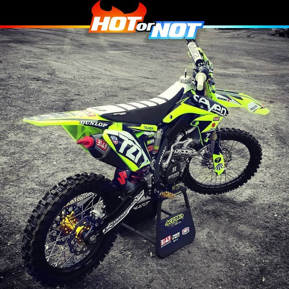 Hot Or Not Suzuki Rmz 250 By Grgtejada17 Hotornotmx Motocross Dirtbike Dirtbikes Mx Supercross Suzu Enduro Motocross Dirt Bike Racing Suzuki Motocross
