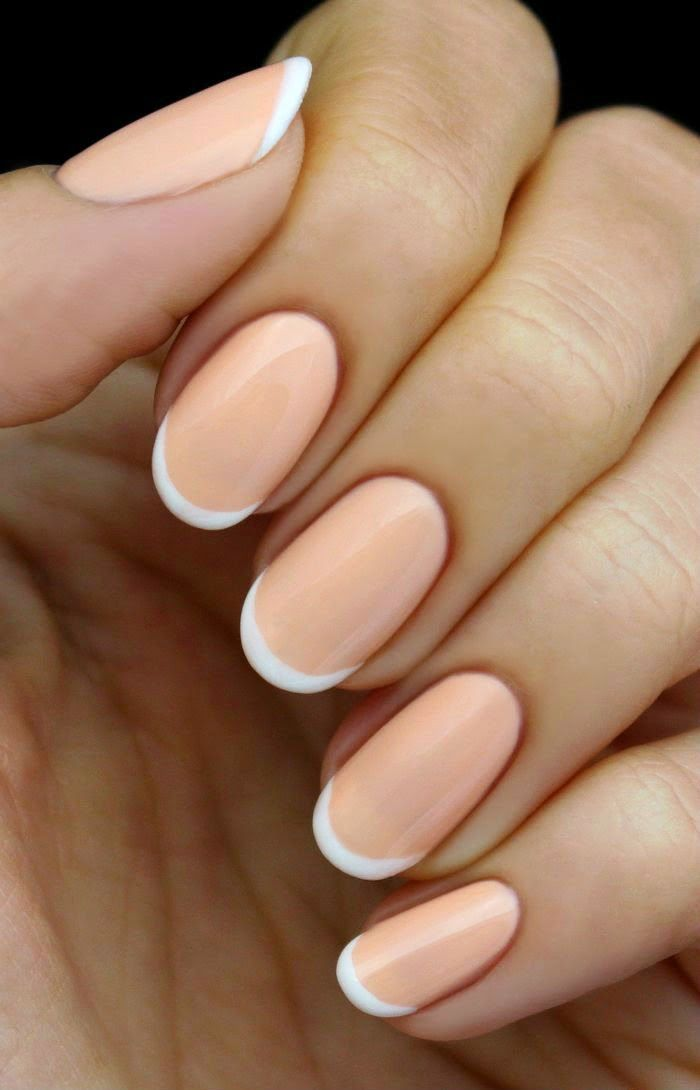 Mani Monday: Peach and White French Nail Tutorial | Pinterest ...