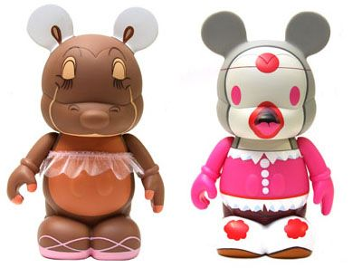 Vinyl Figures of Hyancith Hippo from Walt Disney's Fantasia and Willie the Whale from Walt Disney's Make Mine Music.