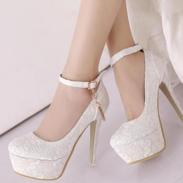 3369577f2940 Classy Round Toe Ankle Strap Luxury High Heels Fashion Shoes in 2019 ...