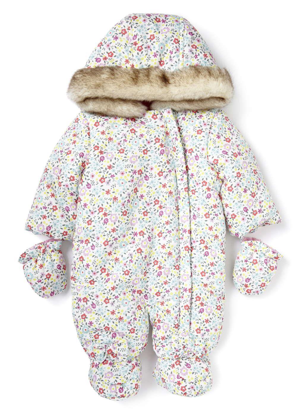 Baby Girls Floral Snowsuit - BHS | SnowSuit | Pinterest | Babies ...