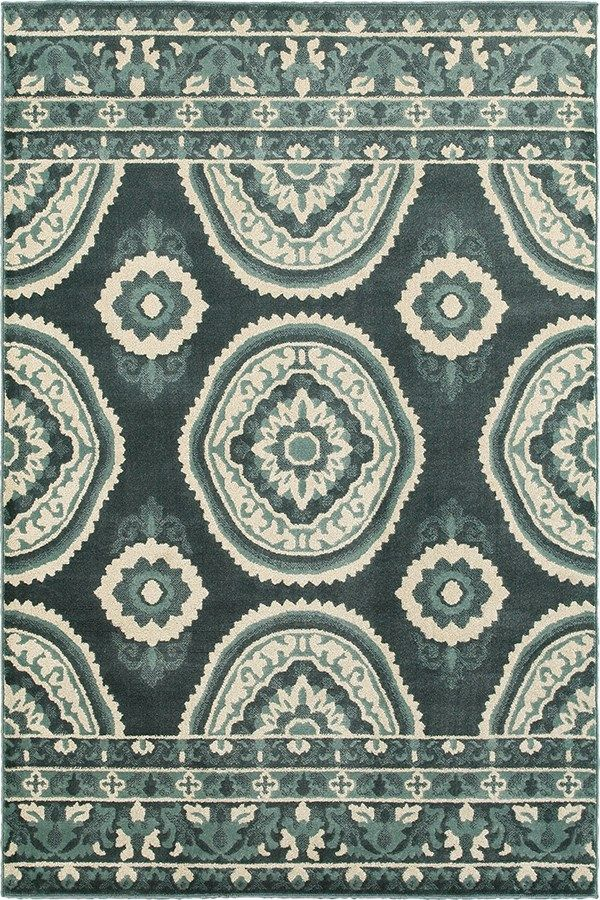 Oriental Weavers Jayden 7415b Rug In Blue Rugs Direct