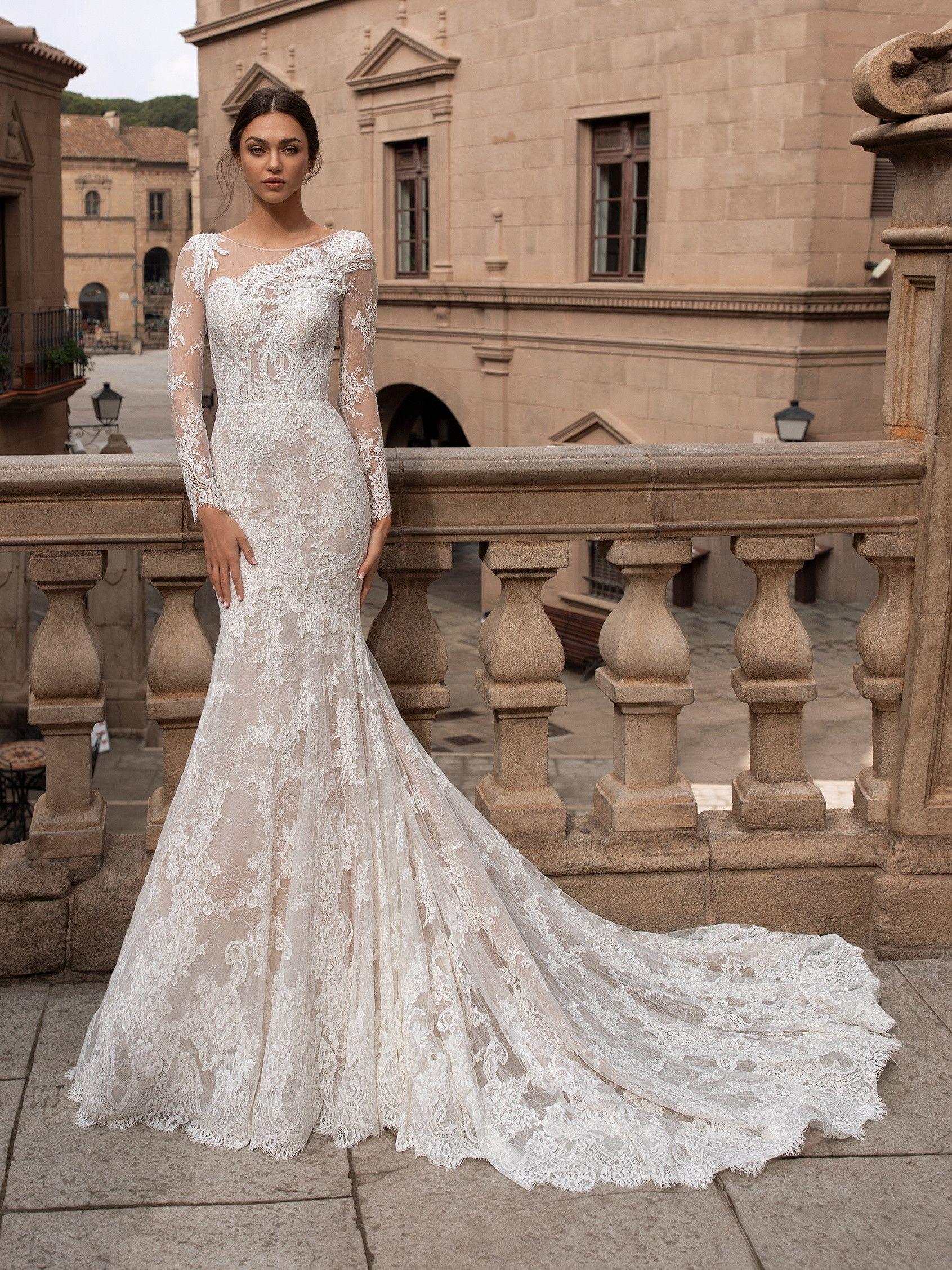 Mermaid Wedding Dress With Asymmetric Neckline And Tattoo Effect Back Jennifer Atelier Satin Wedding Gown Pronovias Wedding Dress Asymmetrical Wedding Dress [ 1076 x 761 Pixel ]