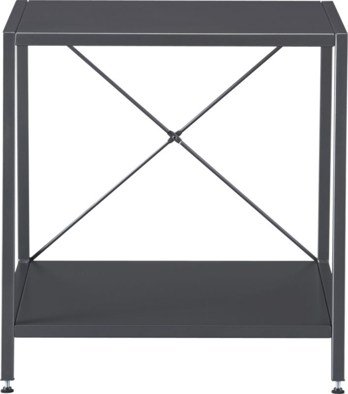 harvey carbon grey nightstand in accent tables | CB2 $99.95