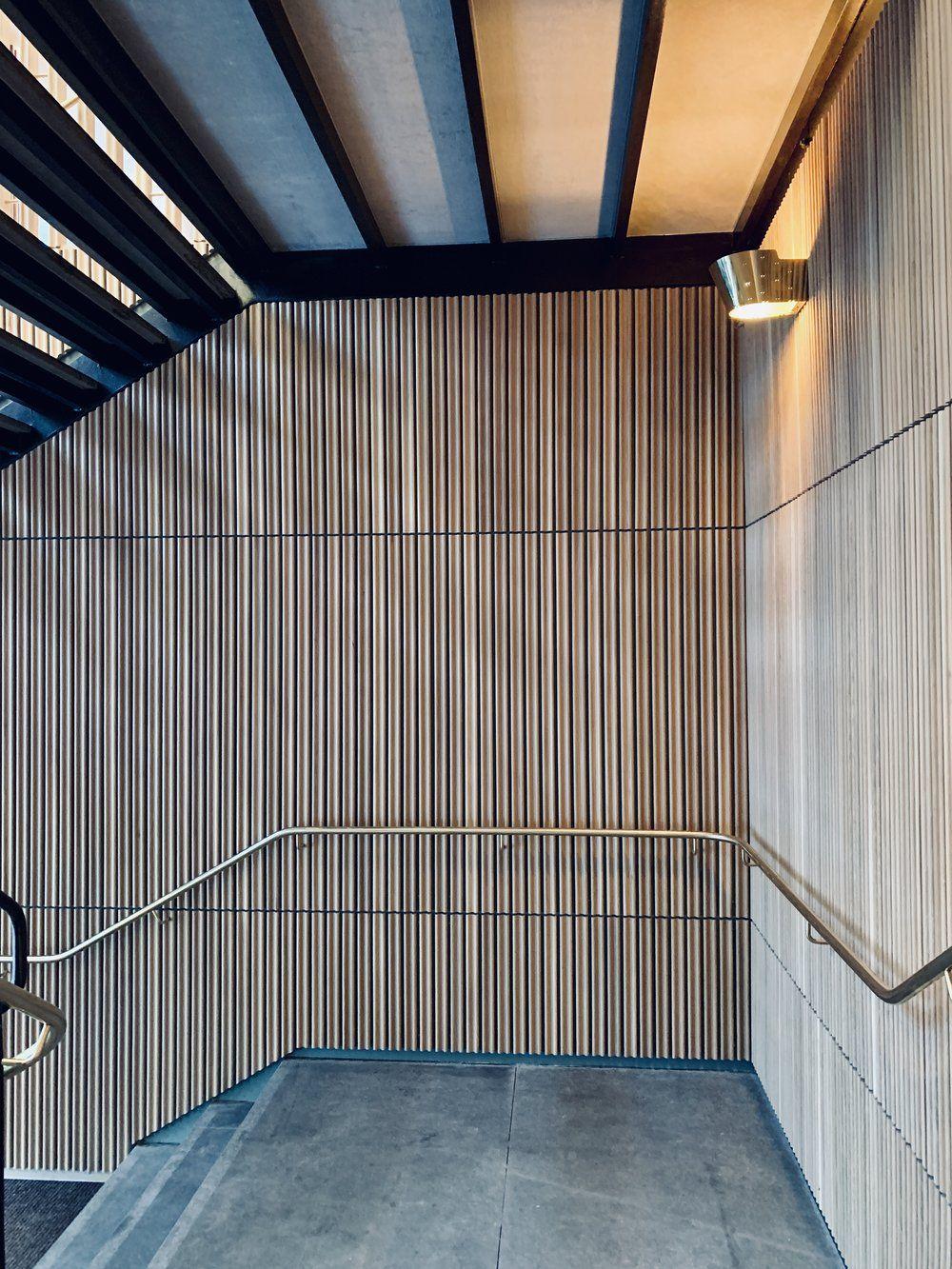 Restaurant Tivander architect drawn concrete staircase ...
