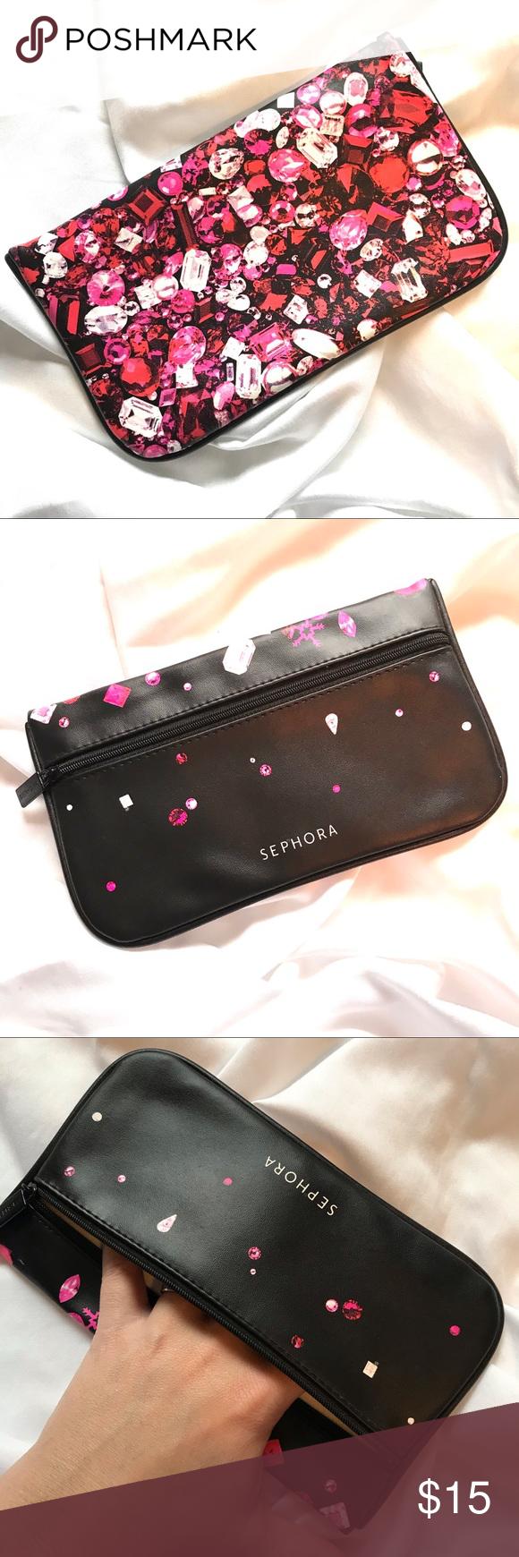 5/25 Sephora Makeup Bag Travel Zipper Brand New NWT (With
