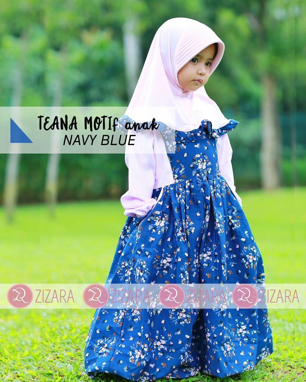Gamis Zizara Teana Dress Anak Navy - baju muslim wanita baju muslimah Kini  hadir untukmu yang 273ed34258
